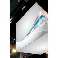 """Plakat z digitalnim tiskom za sistem okvirjev za vpenjanje """"Cube"""""""
