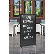"""Kredna tablal - pregradna stena """"Café"""" črna"""
