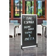 "Kredna tabla - pregradna stena ""Café"" srebrna"