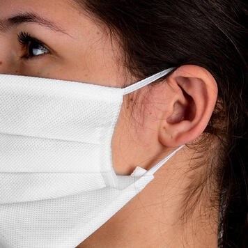 Zaščitna maska za obraz iz 100% tekstil, 2-slojna