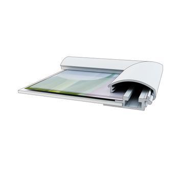 Klip klap okvir, 25 mm profill, srebrno eloksiran