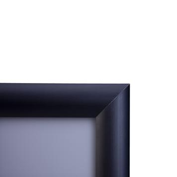 Klip klapi okvir iz aluminija, črno eloksiran